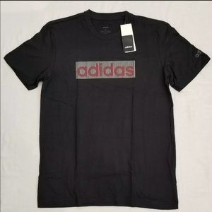 adidas Mens Premium Print Short Sleeve Tee Large